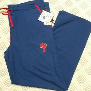 Philadelphia Phillies Scrub Bottoms size M
